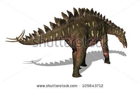 Stegosaur Stock Images, Royalty.