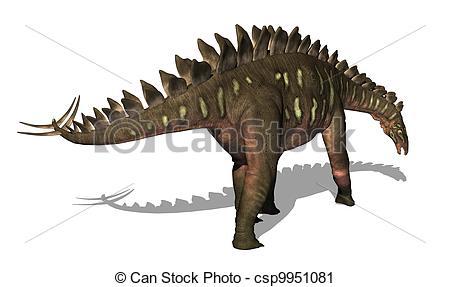Clipart of Miragaia Dinosaur 2.