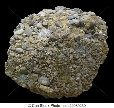 Stock Image of Upper Jurassic siliceous conglomerate.