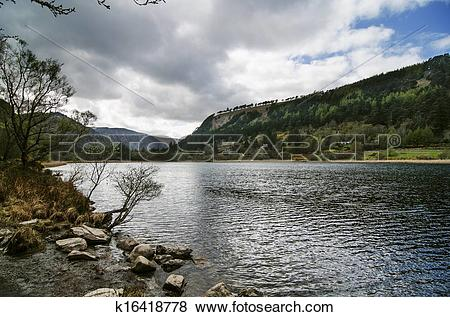 Pictures of Upper lake in Glendalough Valley, Wicklow k16418778.