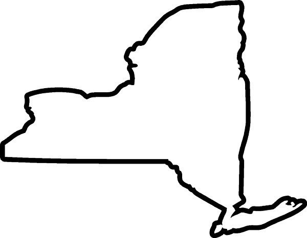 Best Photos of New York State Outline Shape.