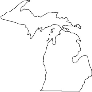 Michigan Outline Clipart.
