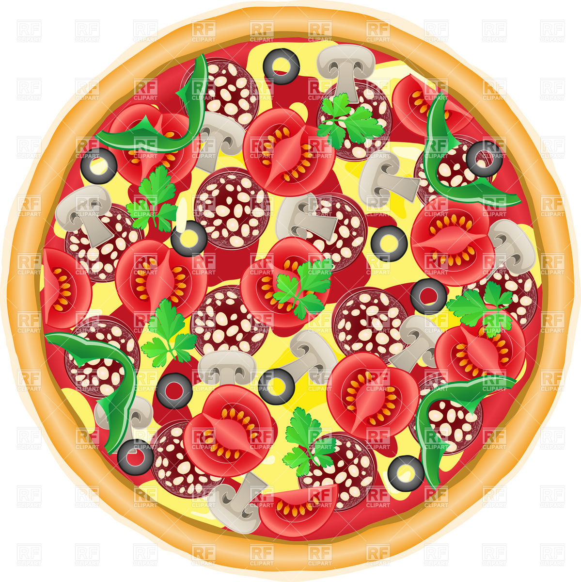 Whole Pie Top View Clipart.