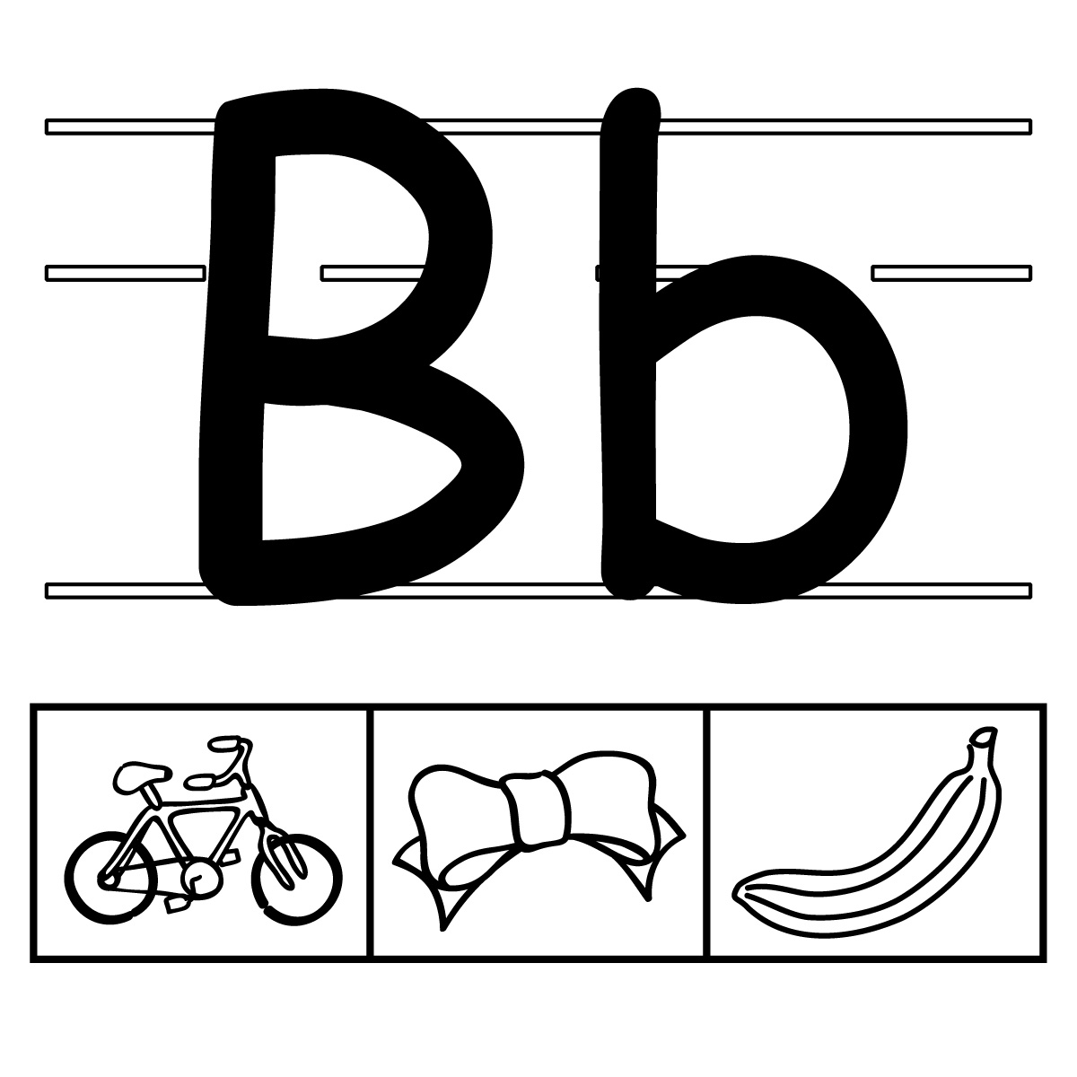 Clip Art: Alphabet Set 00: A Upper Case BW.