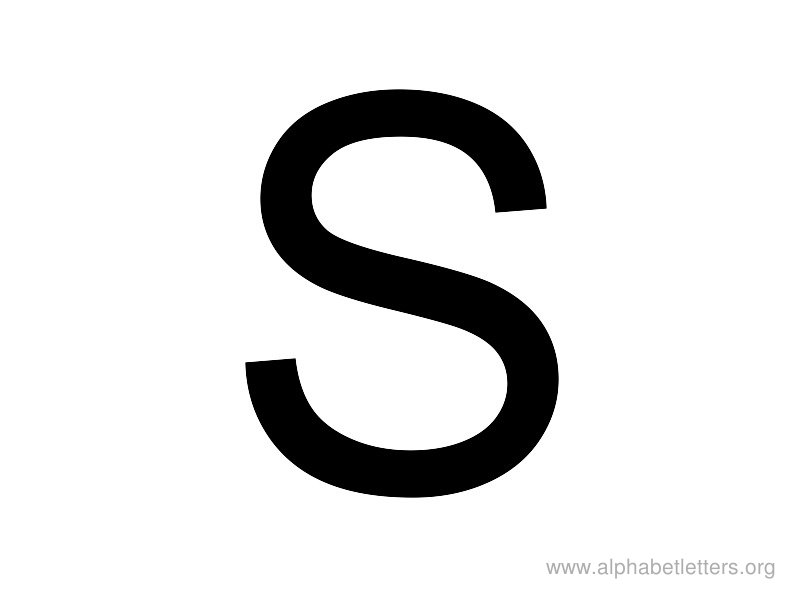 Uppercase S Uppercase clipart - Cl...