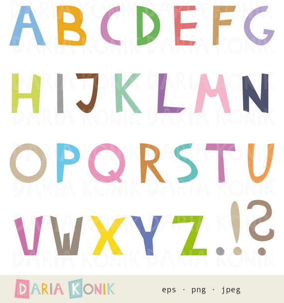 Alphabet Clip Art Set.