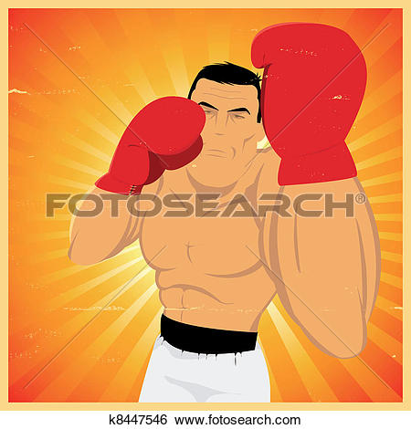Clip Art of Uppercut Technical Gesture ! k8447546.