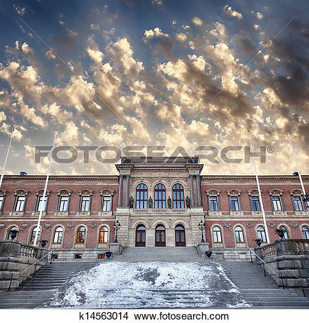 Stock Photo of Uppsala university library k14563014.