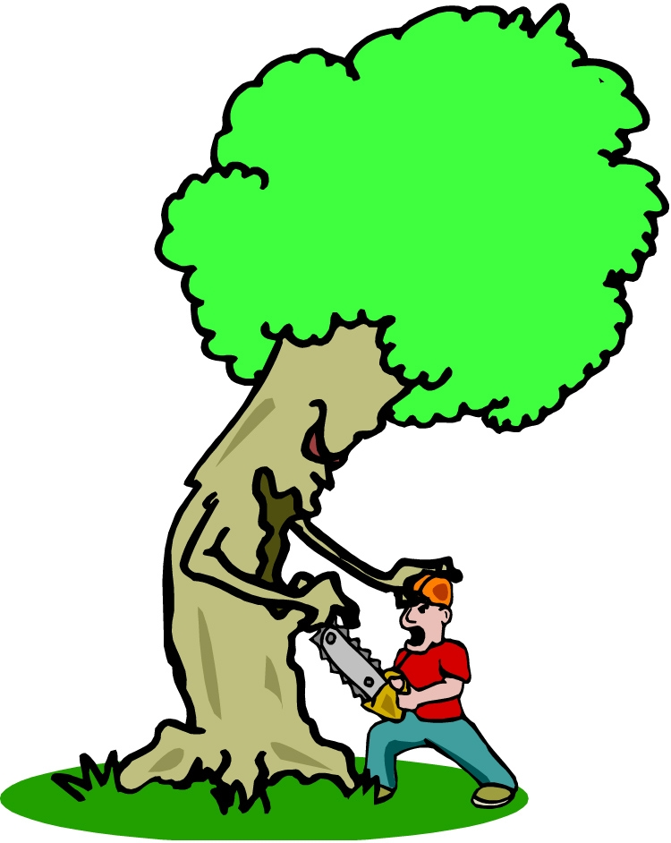 Uprooted tree clipart.