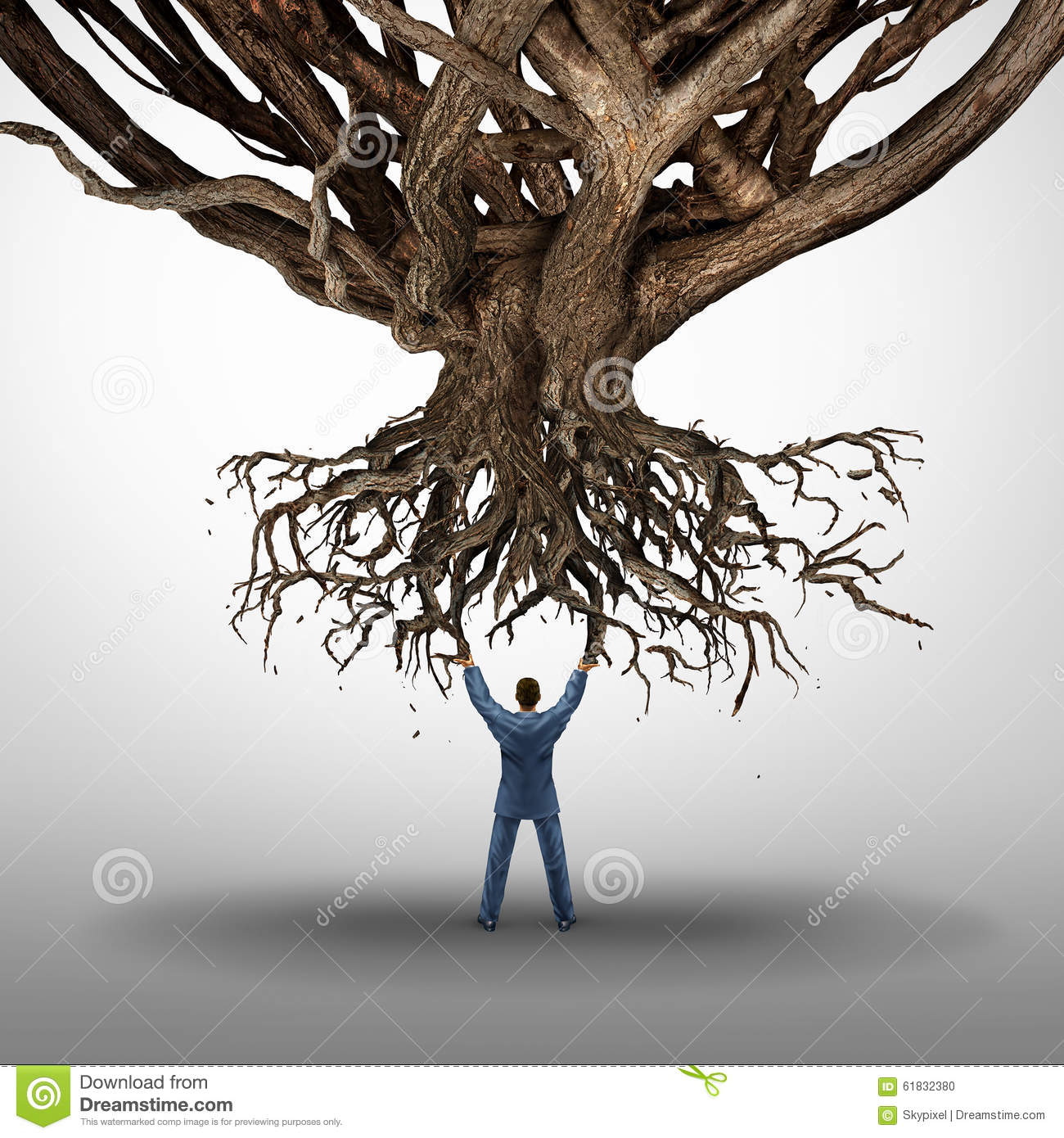Uprooted Tree Stock Illustrations.