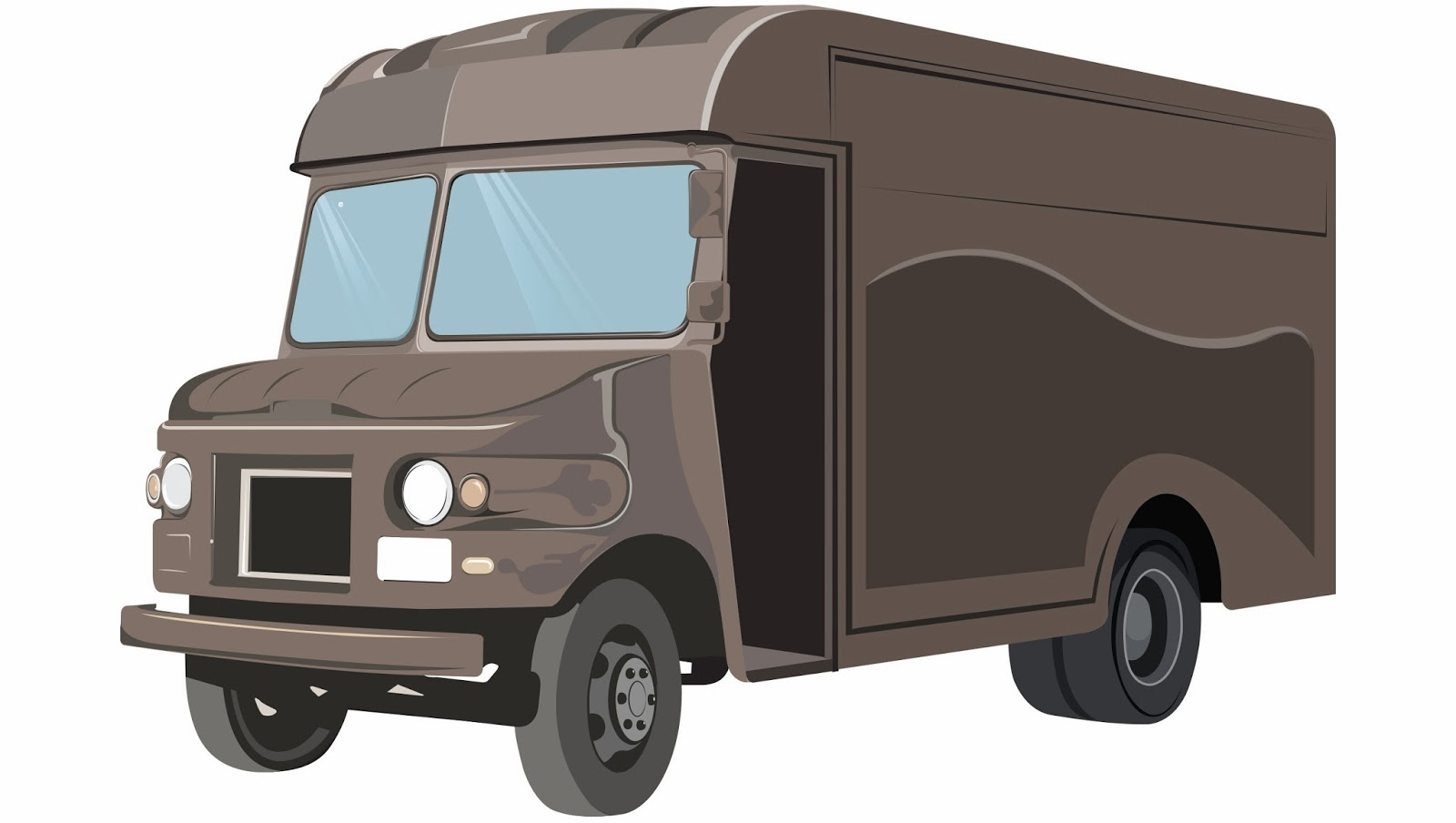Ups delivery truck clipart.