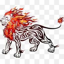 Fire Lion Png, Vector, PSD, and Clipart With Transparent.