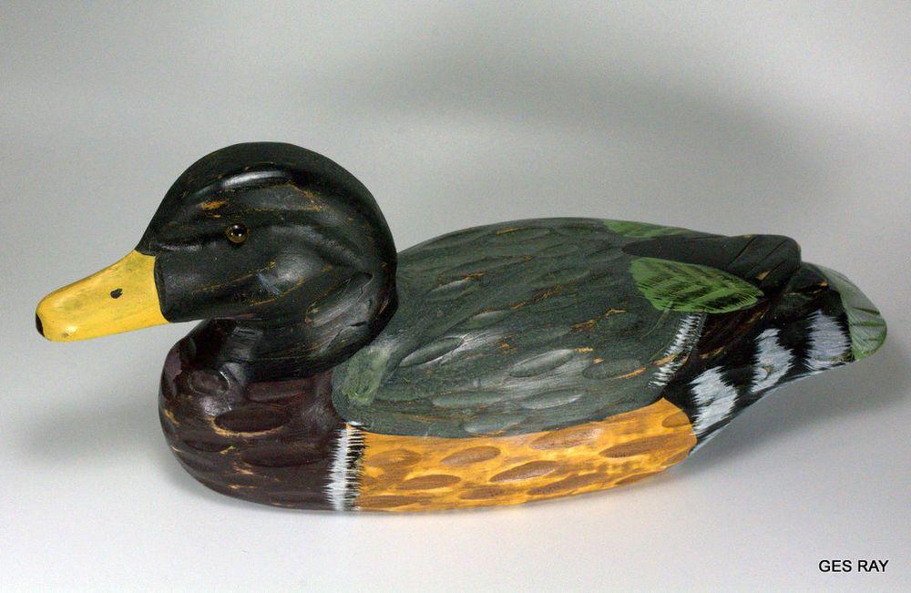 Heritage Mint Ltd Wooden Duck Hand Painted Vintage Decor.