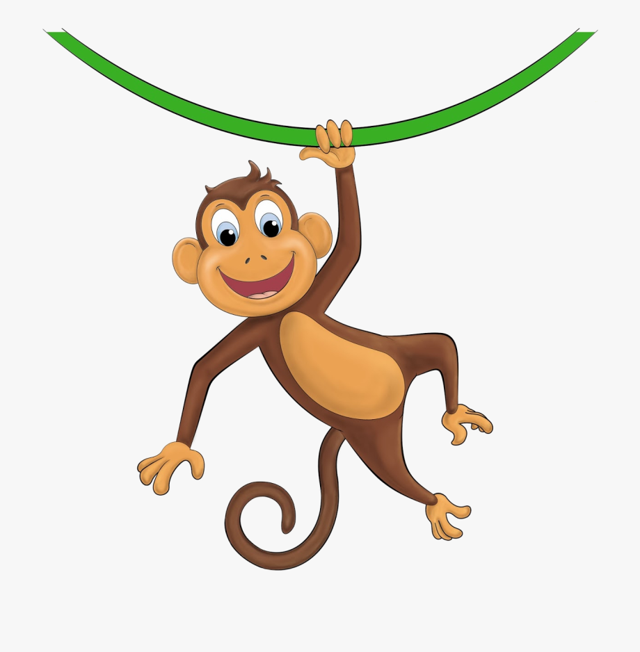 Hanging Monkey Clipart , Transparent Cartoon, Free Cliparts.