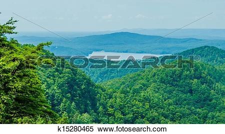 Stock Image of South Carolina Lake Jocassee Gorges Upstate.