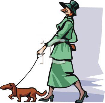Uptown Lady Walking Her Dog.