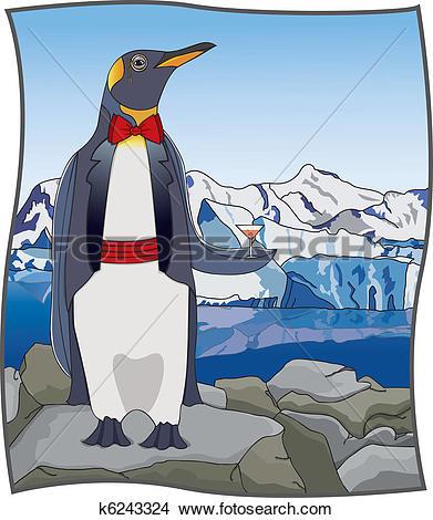 Clipart of Uptown Penguin k6243324.