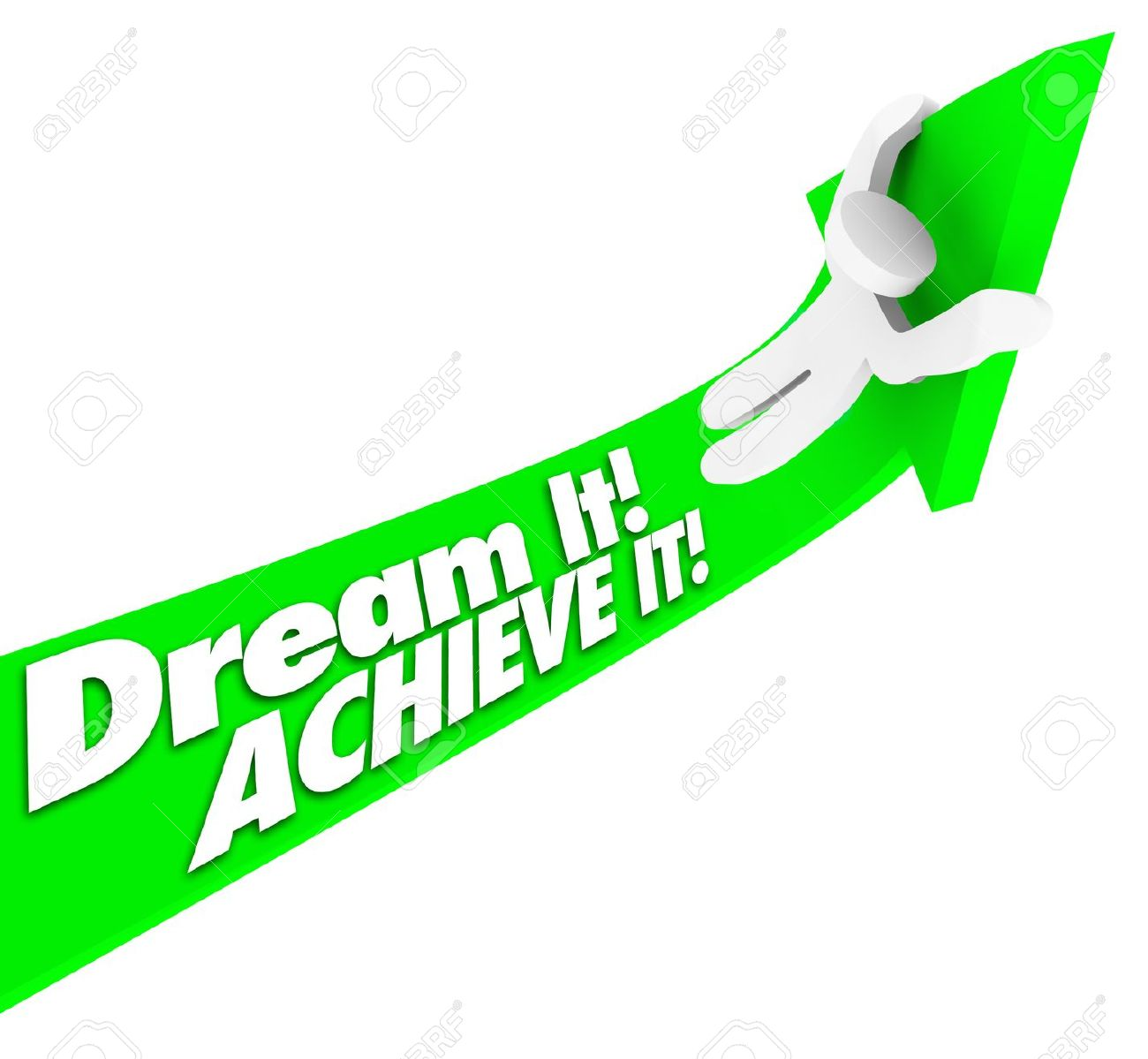 Reaching goals clipart.