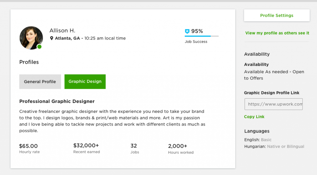 Specialized Profiles on Upwork Highlight All Types of Work.