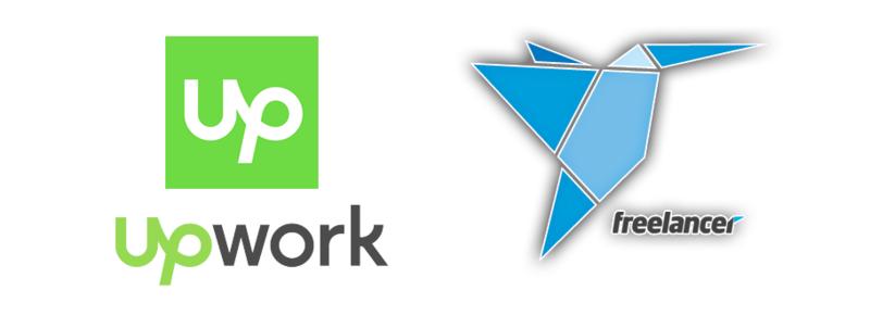 Download Free png upwork and freelancer logo.