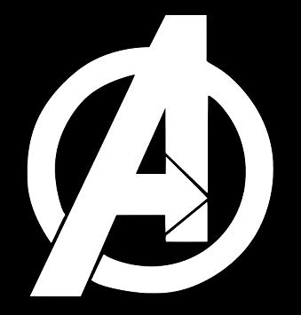 UR Impressions Avengers Logo Decal Vinyl Sticker Graphics for Cars Trucks  SUV Vans Walls Windows Laptop.