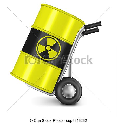 Clip Art of radia active waste.