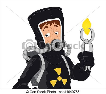 Vector of Cartoon Uranium Character.