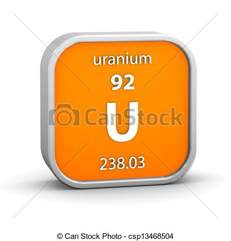 Stock Illustration of Uranium material sign.