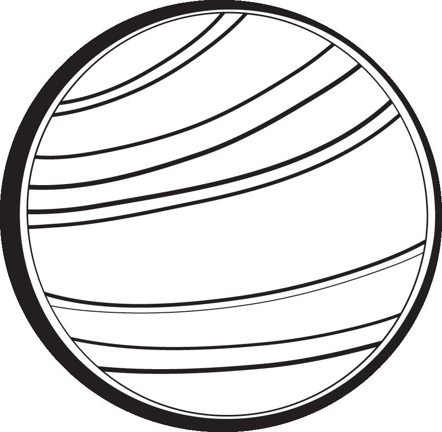 Uranus Clipart Black and White.