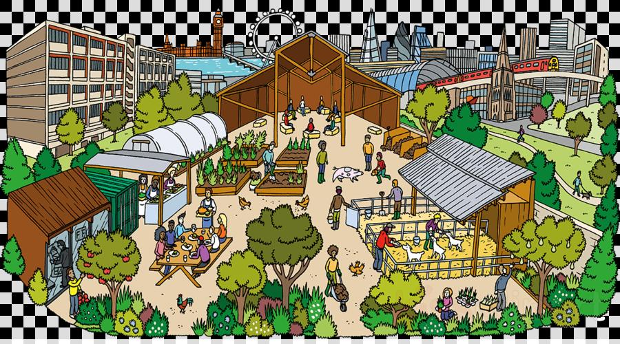 Cartoon, Rural Area, Urban Area, transparent png image.