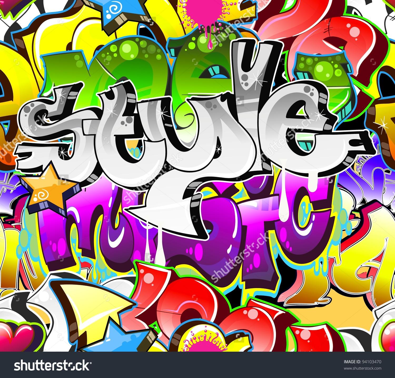 Graffiti Background Urban Art Street Wall Stock Vector 94103470.