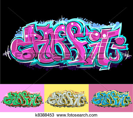 Clipart of Graffiti urban art k8388453.