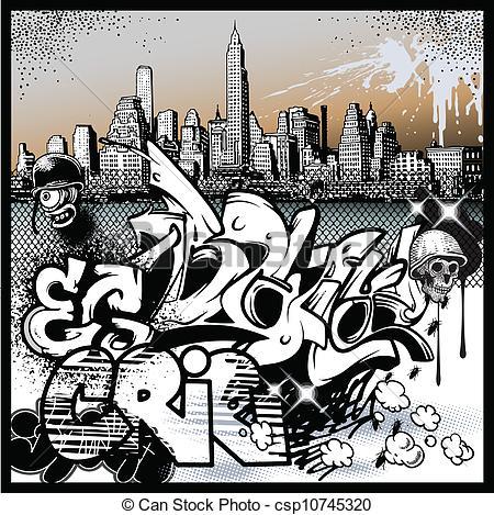Vector Illustration of graffiti urban art elements csp10745320.