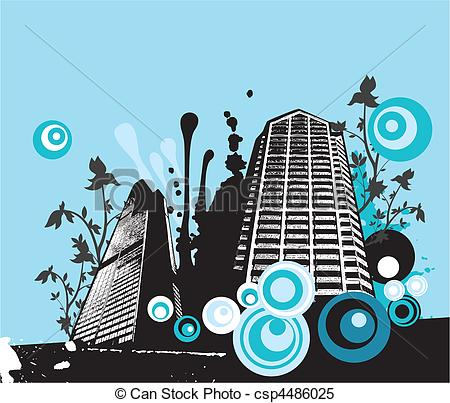 Clipart Vector of urban art csp4486025.