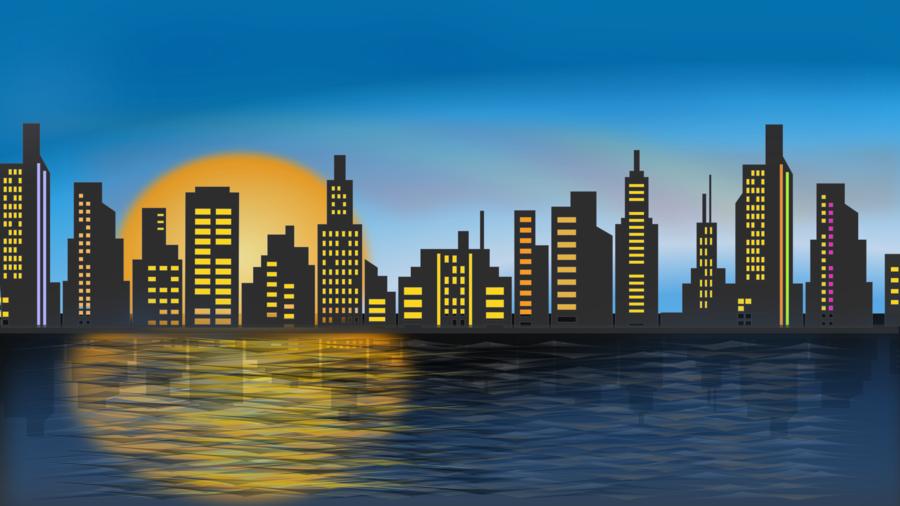 Skyline City clipart.
