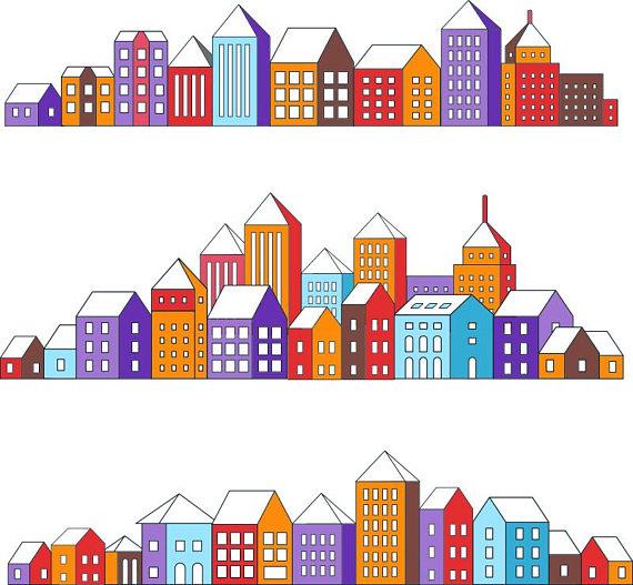 Urban House Clipart.
