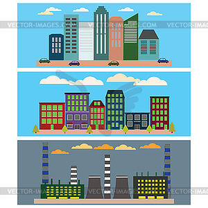 Industrial ,business city and urban city.