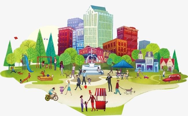 Urban community clipart 9 » Clipart Portal.