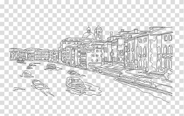 Urban design Black and white Residential area Sketch.