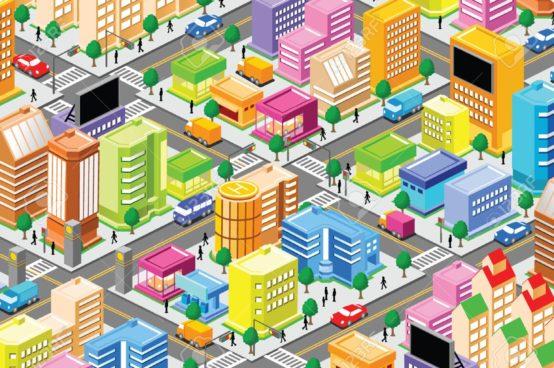 Collection of free Establishing clipart urban community.