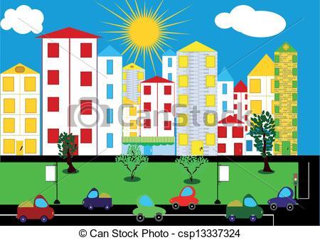 Cityscape clipart urban community, Cityscape urban community.
