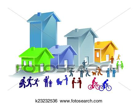 Urban community clipart 11 » Clipart Station.