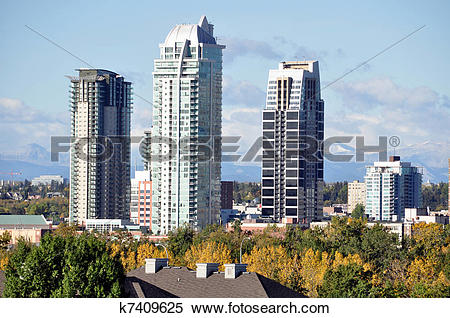 Stock Image of Calgary luxury condos k7409625.
