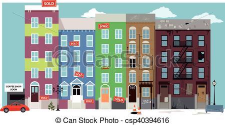 Urban condos clipart #17