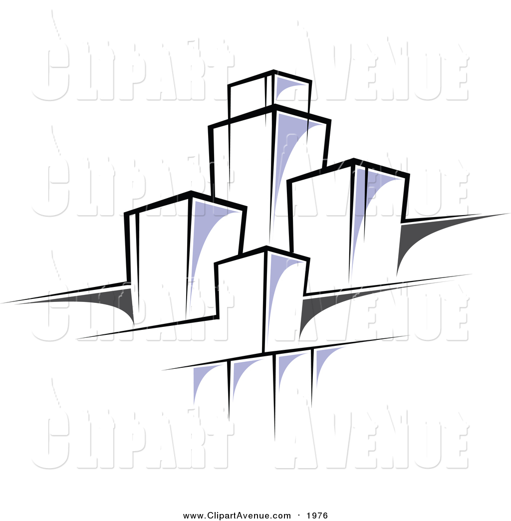 Clipart of a Highrise Urban Design by Vector Tradition SM.