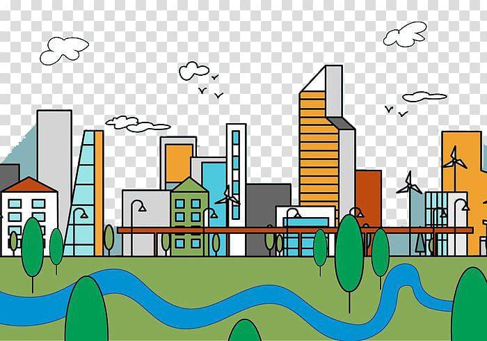 Residential area Cartoon Urban design Illustration, city.