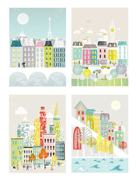 Cityscape Print Collection.