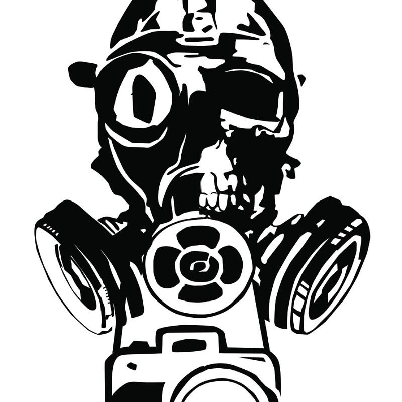 "Urban Exploration UrbEx Gas Mask Skull"" Spiral Notebooks by."