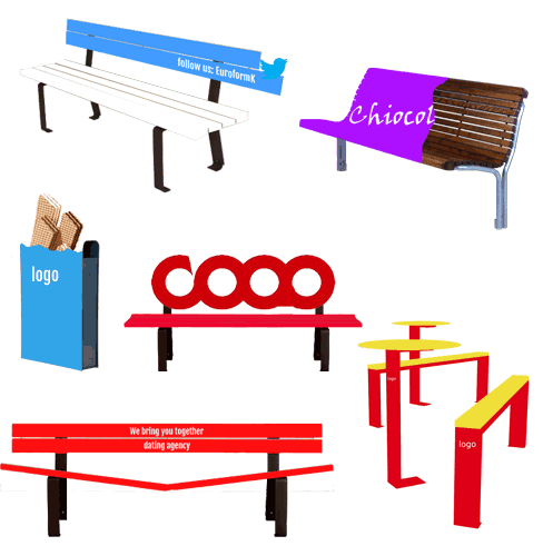 Street furniture and advertisment.