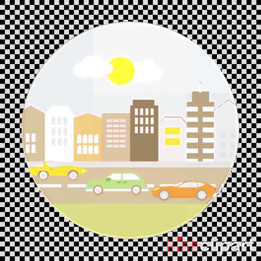Cityscape icon Landscapes icon Urban icon clipart.